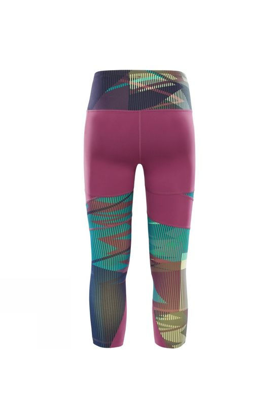 The North Face Womens Motivation Printed Tight Amaranth Purple Ziggy Zaggy Print