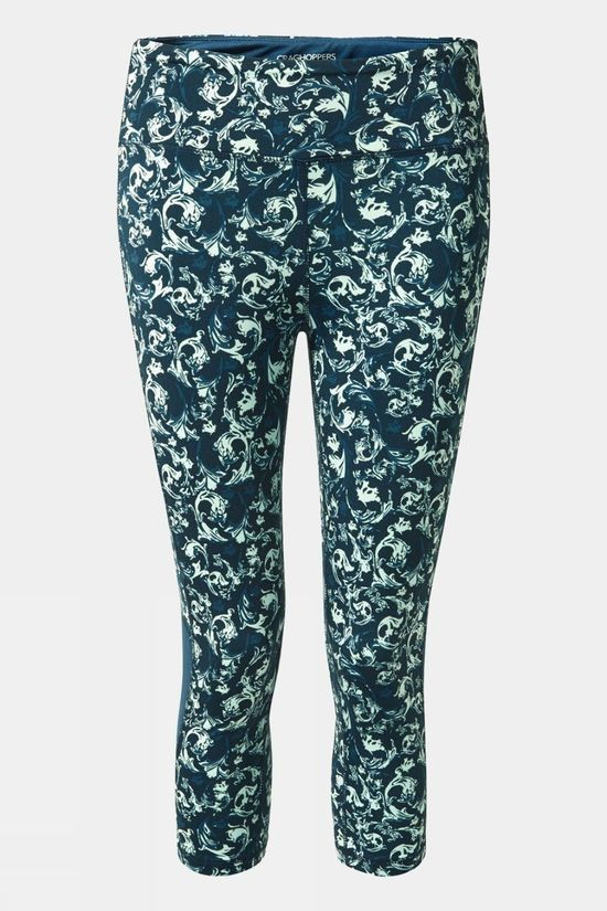 Craghoppers Womens NosiLife Luna Crop Tights LochBlue Print