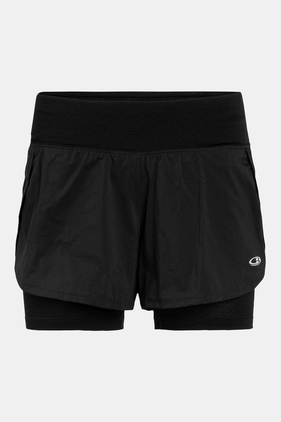 Icebreaker Womens Impulse Training Shorts Black