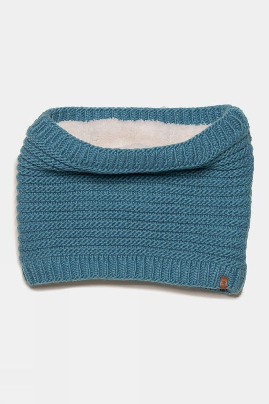 Brakeburn Womens Chunky Knit Snood Blue