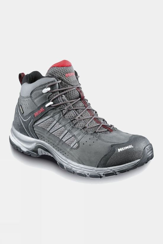 Meindl Mens Journey Mid GTX Boot Anthracite/Red