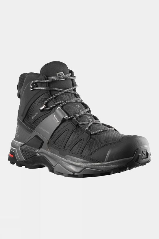 Salomon Mens X Ultra 4 Mid GTX Hiking Boot Black/Magnet/Pearl Blue