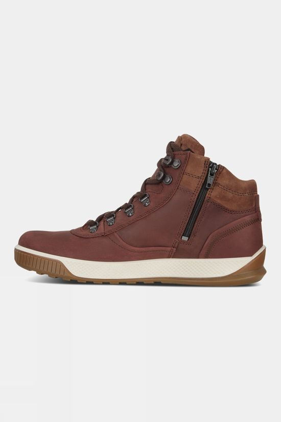 Ecco Mens Byway Tred Leather Chocolat Cocoa Brown