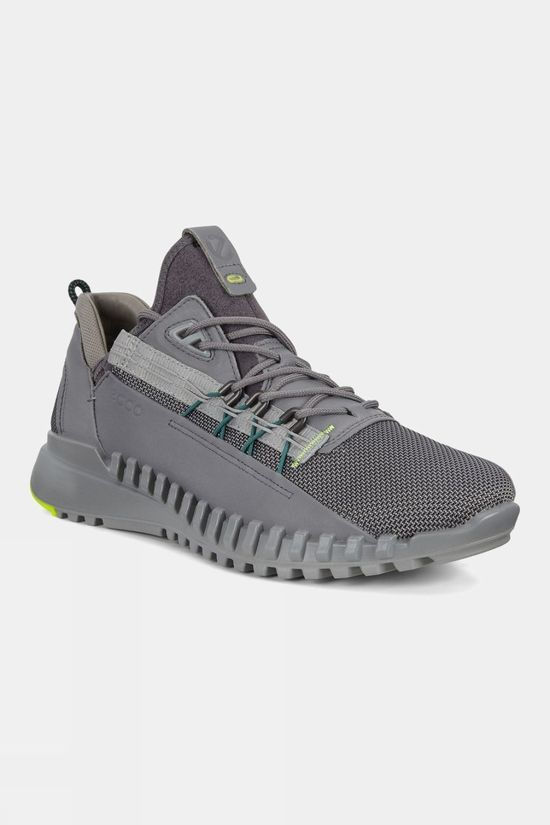 Ecco Mens Zipflex Shoe Titanium/Titanium Text Dritton