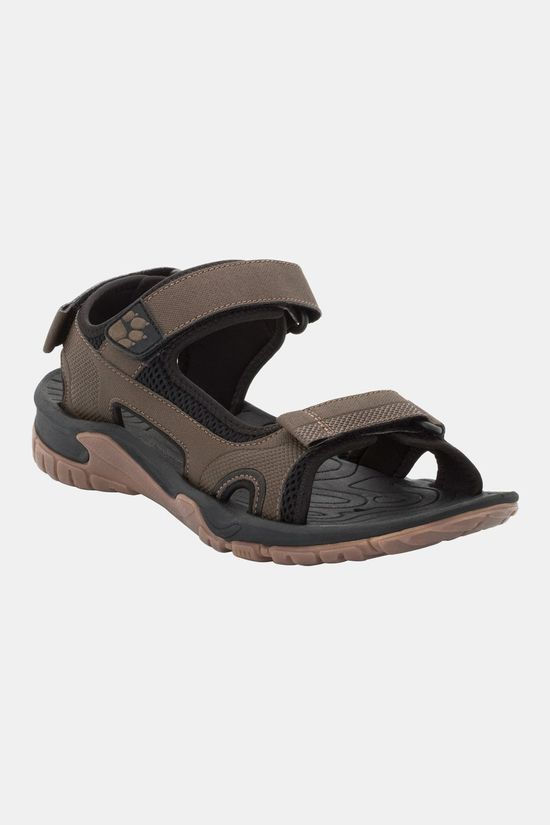 Jack Wolfskin Mens Lakewood Cruise Sandal Dark Wood