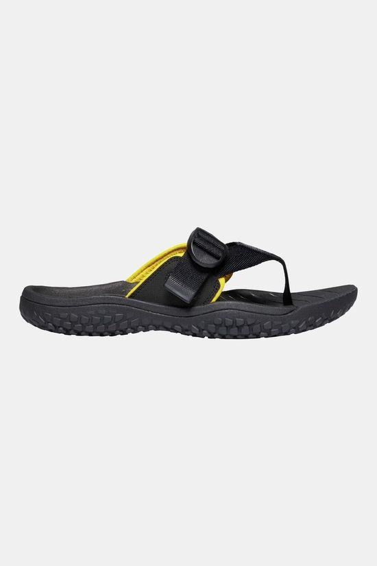 Keen Men's Solr Toe Post Sandal Black/Gold