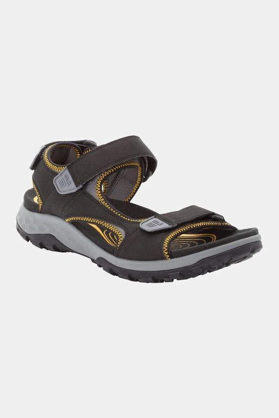 Jack Wolfskin Rocky Path Sandal Black / Burly Yellow Xt