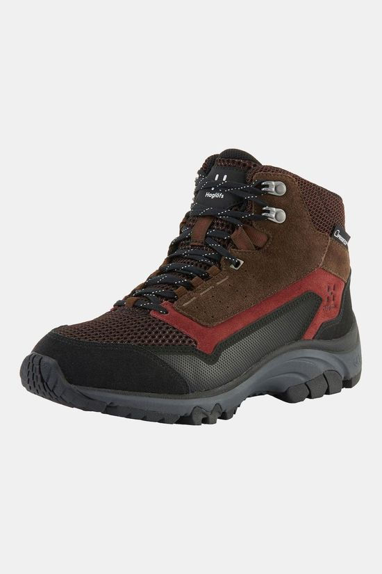 Haglofs Womens Skuta Mid Proof Eco Boot Maroon red/barque