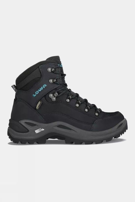 Lowa Womens Renegade GTX Mid Boot Wide Asphalt/Turquoise