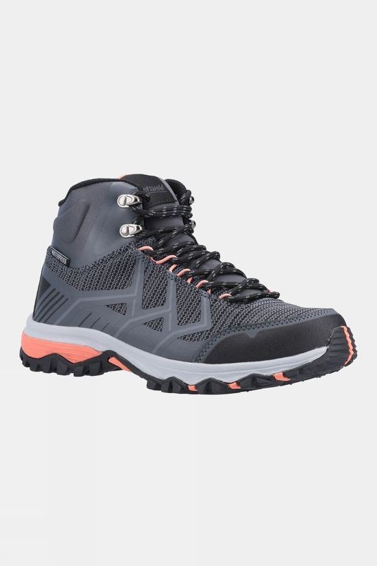 Cotswold Womens Wychwood Mid Hiking Boots Grey/Coral