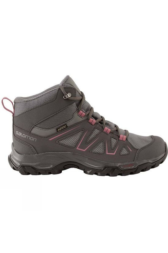 Salomon Womens Tibai GTX Mid Boot Quiet Shade/Magnet/Malaga