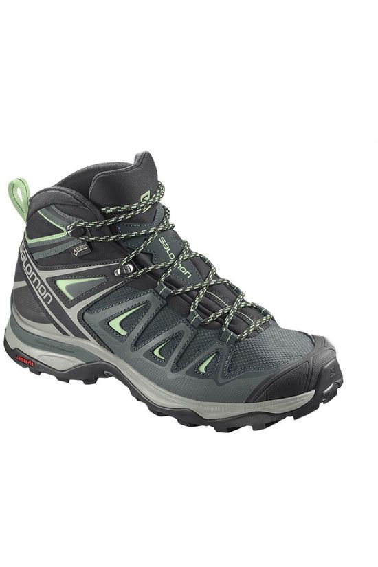 Salomon Womens X-Ultra Mid 3 GTX Boot  Green Gables/Balsam Green/Pgreen