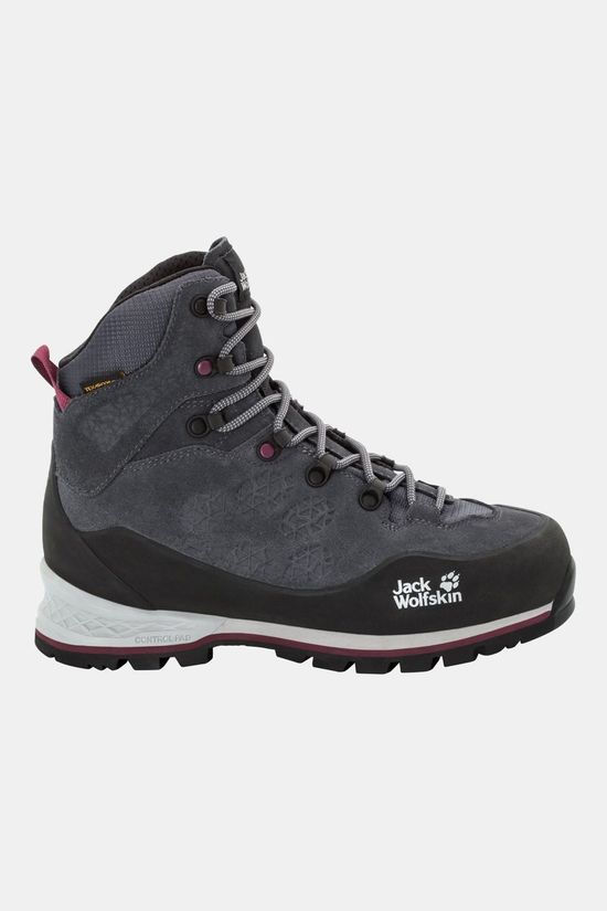 Jack Wolfskin Womens Wilderness Xt Texapore Mid Boot Ebony / Burgundy