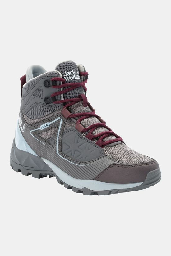 Jack Wolfskin Womens Cascade Hike Xt Texapore Mid Boot Pebble Grey / Pink