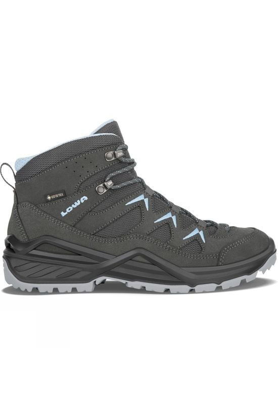 Lowa Womens Sirkos Evo Mid GTX Boot Anthracite/Ice Blue
