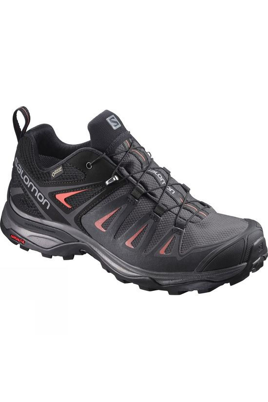 Salomon Womens X-Ultra 3 GTX Shoe  Magnet/Black/Mineral Red