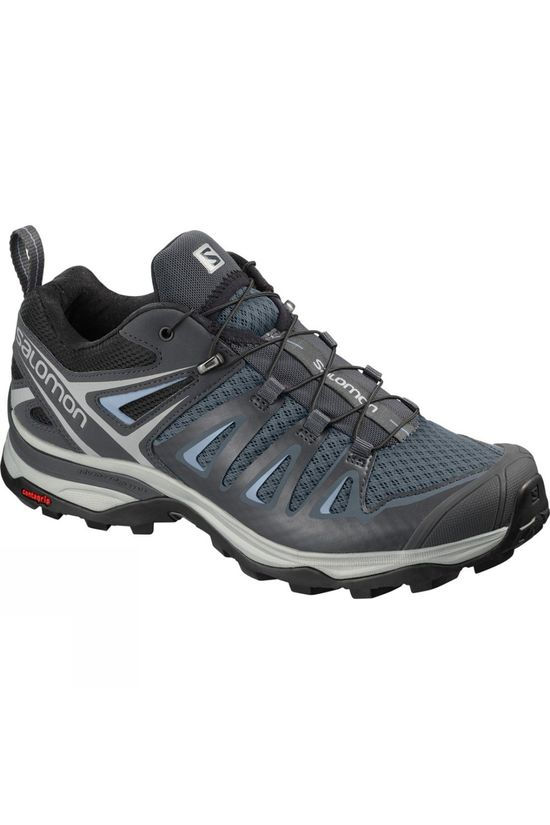 Salomon Womens X Ultra 3 Shoe Stormy Weather/Ebony/Cashmere Blue
