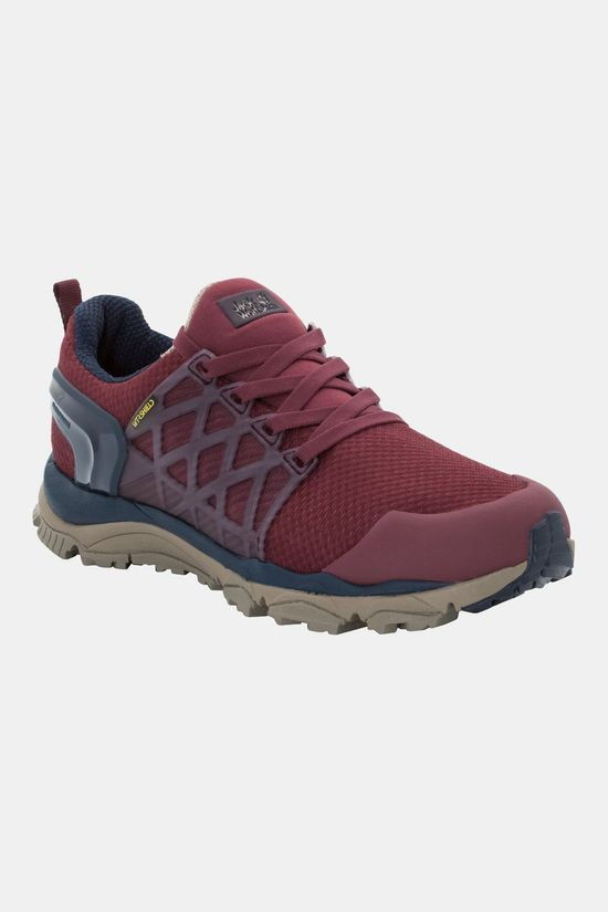 Jack Wolfskin Womens Trail Invader Shield Low Burgundy / Dark Blue