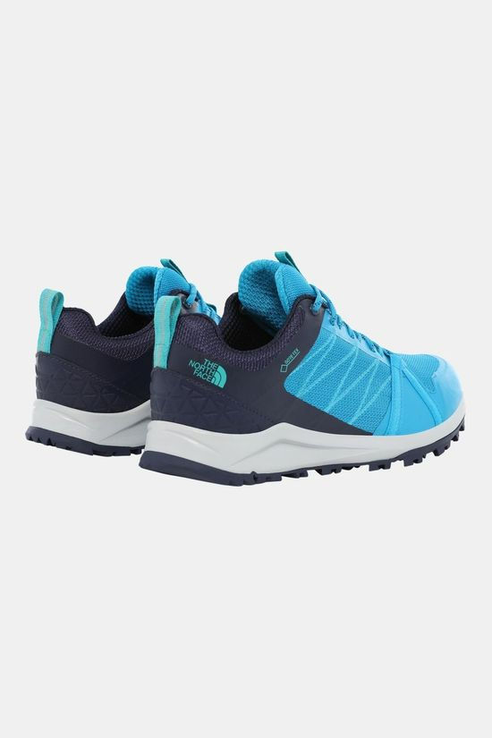 The North Face Womens Litewave Fastpack II Gore-Tex Hiking Shoes Acoustic Blue/Peacoat Navy