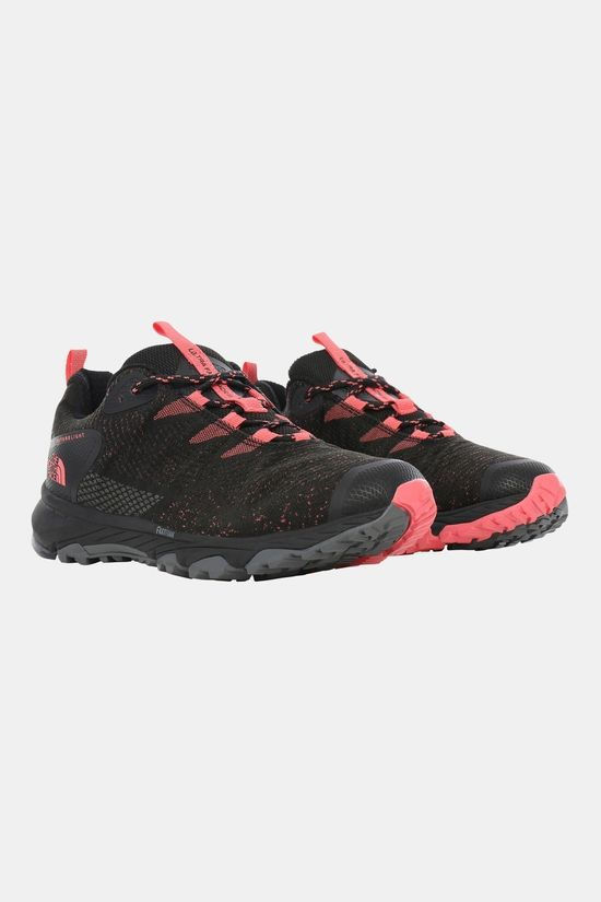 The North Face Womens Ultra Fastpack III Futurelight Shoe (Woven) Tnf Black/Calypso Coral
