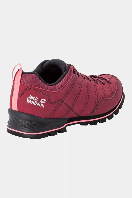 Jack Wolfskin Womens Scrambler Low Shoe Burgundy / Pink