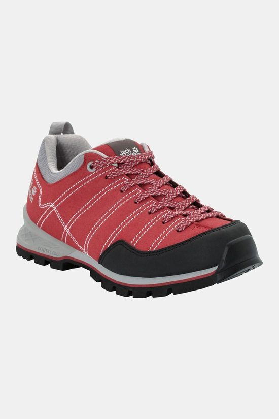 Jack Wolfskin Womens Scrambler Low Shoe Red / Light Grey
