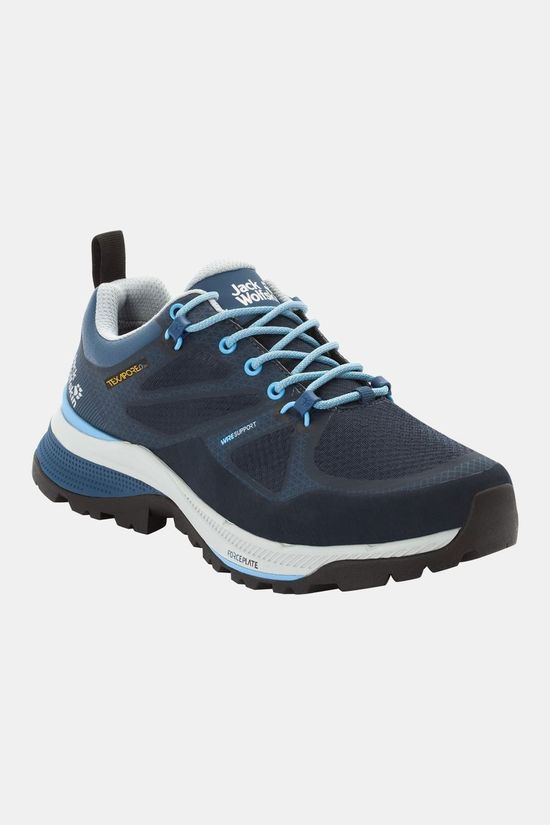 Jack Wolfskin Womens Force Striker Texapore Low Shoe Dark Blue / Light Blue