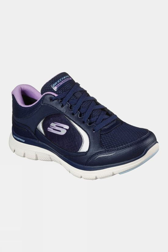 Skechers Womens Flex Appeal 4.0 Waterproof Trainer Navy