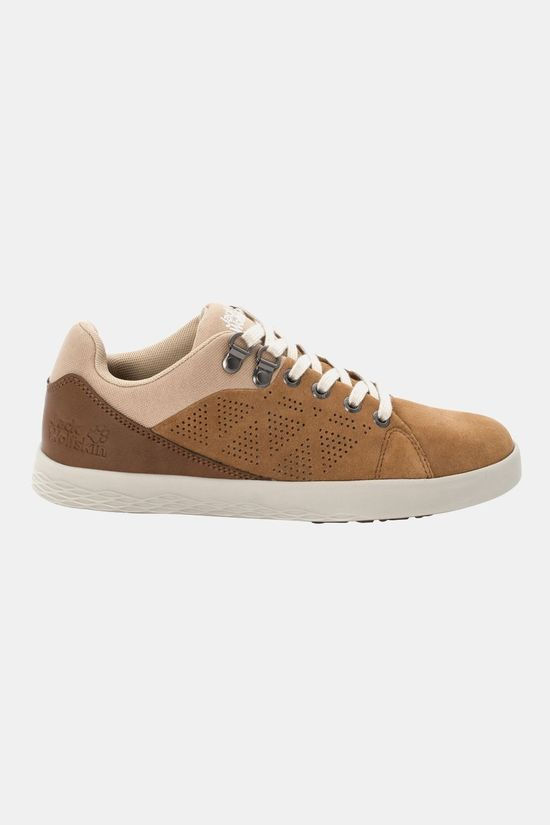 Jack Wolfskin Womens Auckland Low Shoe Bark Brown / Sand Dune