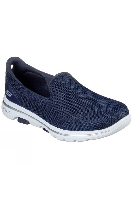 Skechers Womens GoWalk 5 Slip On Shoe Navy/White