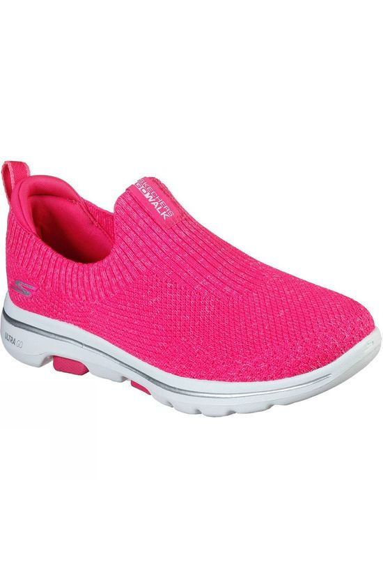 Skechers Womens GoWalk 5 Trendy Slip On Shoe Hot Pink