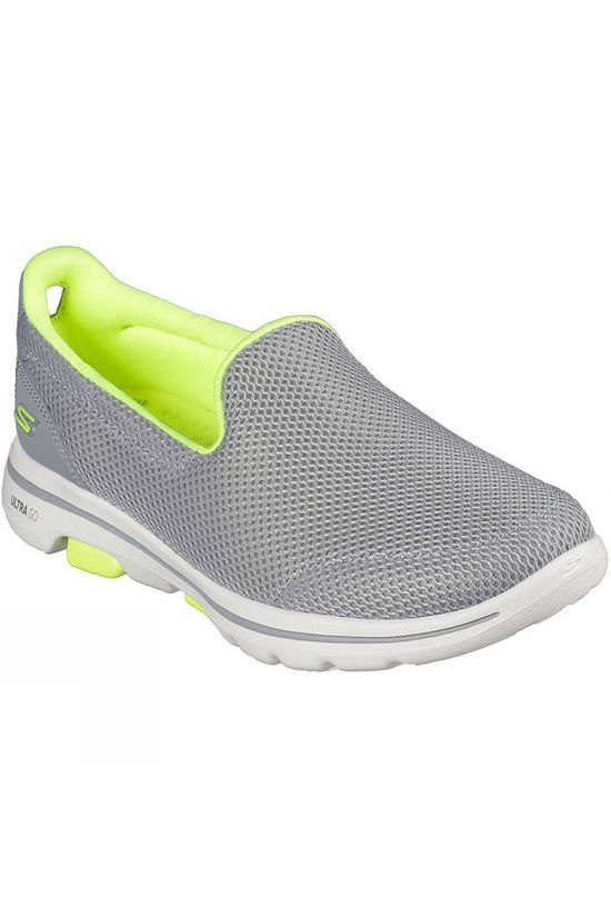 Skechers Womens GoWalk 5 Fantasy Slip On Shoe Grey/Lime