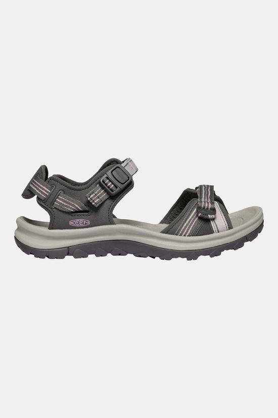 Keen Womens Terradora II Open Toe Sandal Dark Grey/Dawn Pink