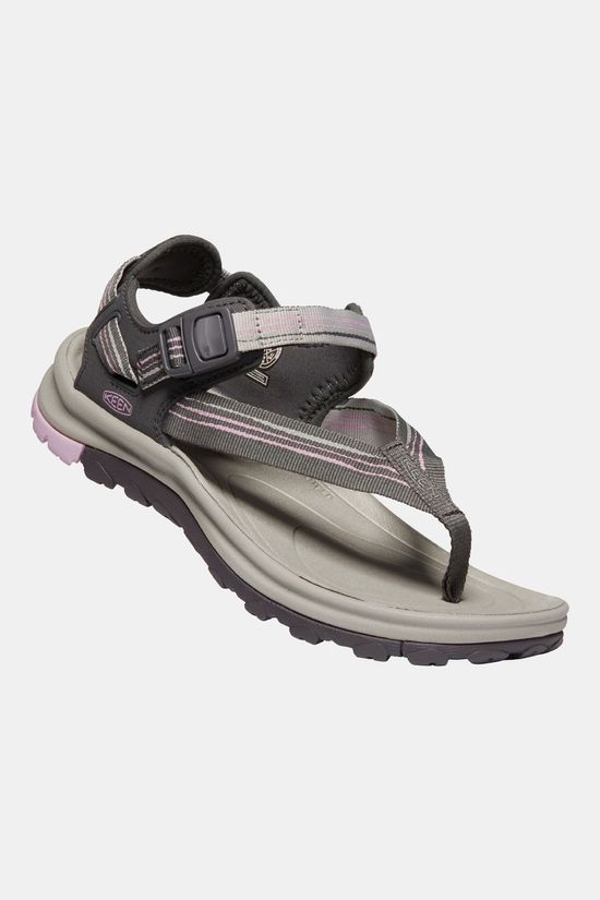 Keen Women's Terradora II Toe Post Sandal Dark Grey/Dawn Pink