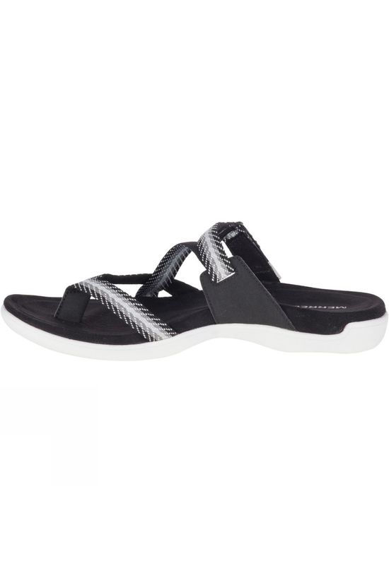 Merrell Womens District Mendi Thong Sandal Black