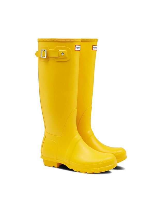 Hunter Womens Hunter Original Tall Wellington Boots Yellow