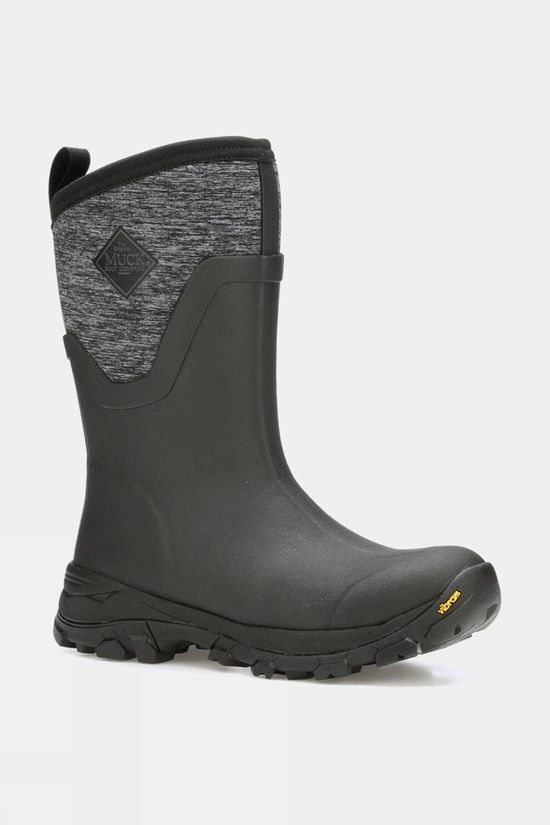 Muck Boot Womens Arctic Ice Mid Boot Black/Heather Jersey