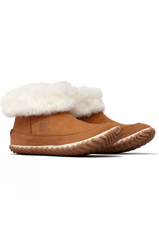Sorel Womens Out n About Bootie Slipper Elk/Natural