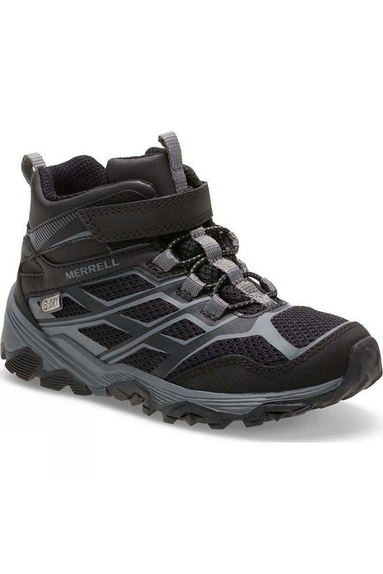 Merrell Boys Moab FST Mid Waterproof Boot Black