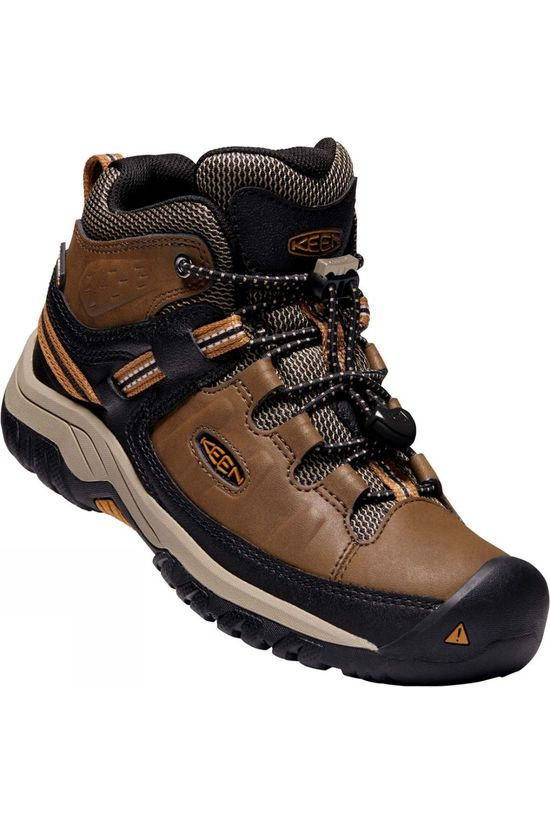 Keen Youth Targhee Mid WP Boot Dark Earth/Golden Brown