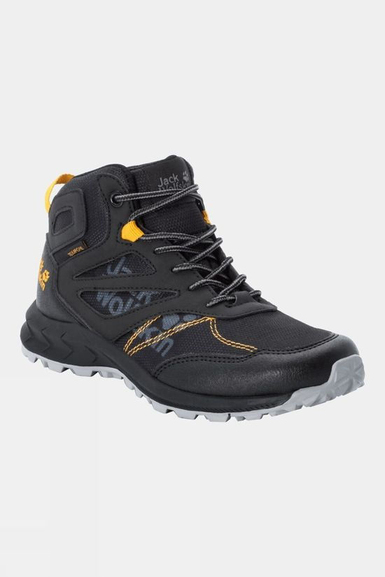 Jack Wolfskin Kids Woodland Texapore Mid Black / Burly Yellow Xt