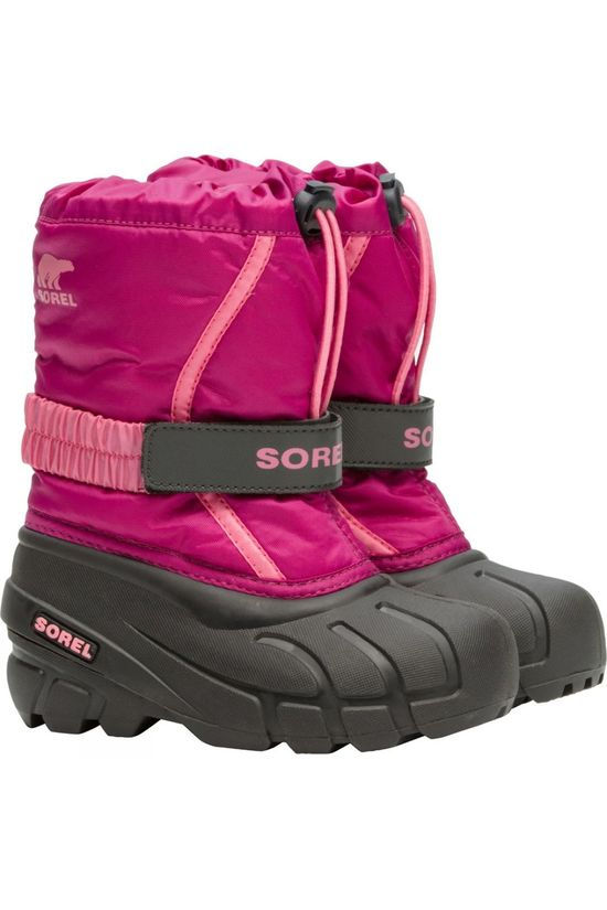 Sorel Childrens Flurry Boot Deep Blush, Tropic Pink