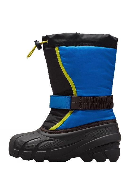 Sorel Youth Flurry Boot 14+ Black, Super Blue