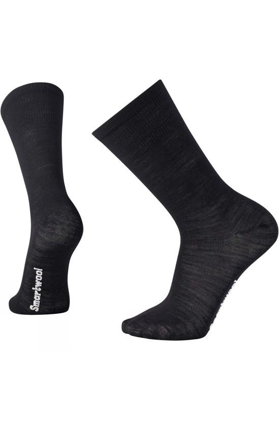SmartWool Mens Hiking Liner Crew Sock Black