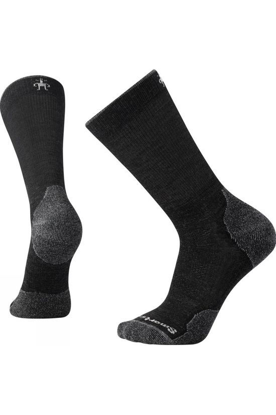 SmartWool Mens PhD Outdoor Light Crew Socks  Charcoal