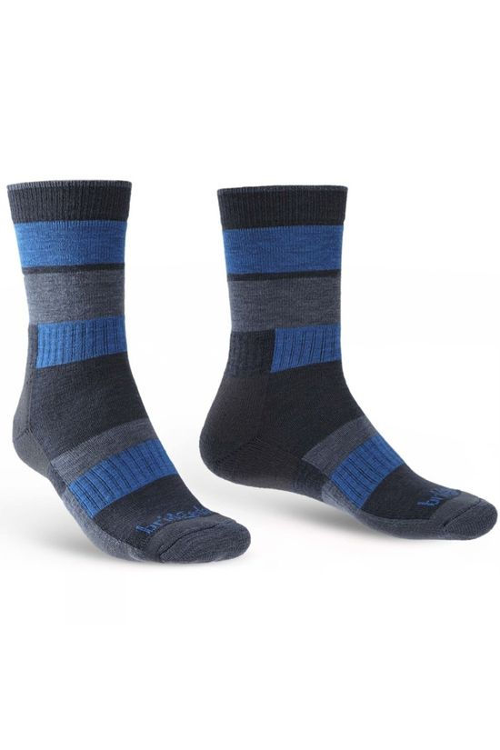 Bridgedale Mens Merino Banded Trail Sock Navy/Blue
