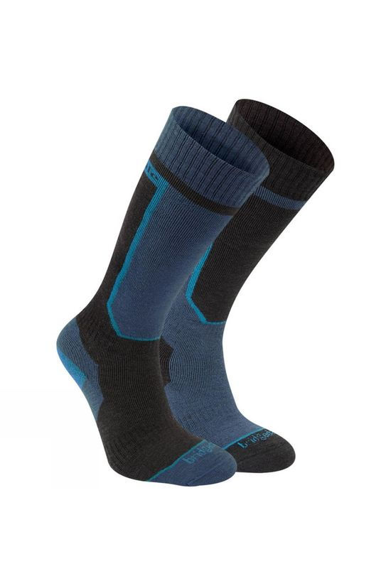 Bridgedale Mens Twin Pack Ski Socks Blue/Black
