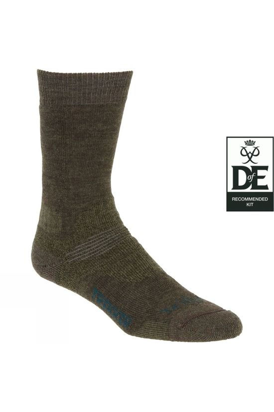 Bridgedale Mens Midweight Merino Endurance Sock Green