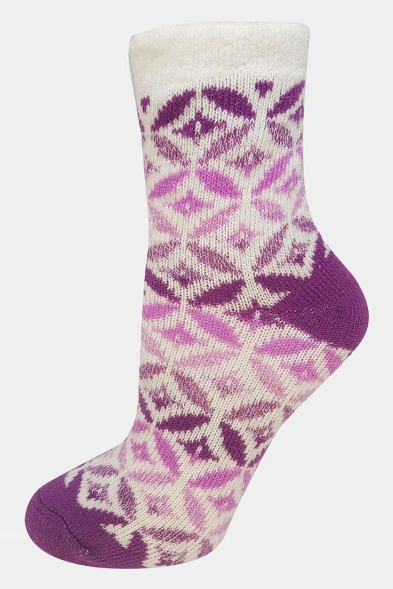 Yaktrax Womens Cabin Sock Willowherb