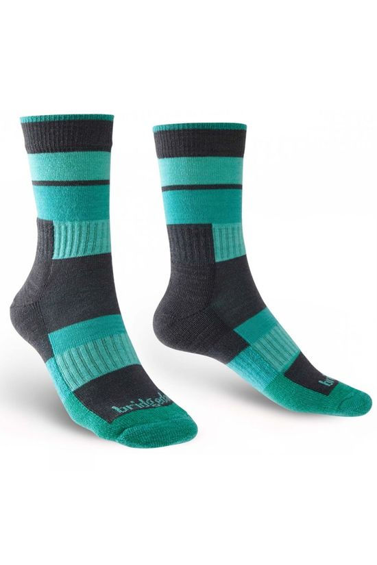Bridgedale Womens Merino Banded Trail Sock Grey/Green